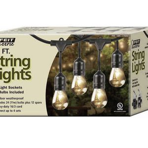 Feit Electric 48 Ft Incandescent String Lights for Sale in Moreno Valley, CA