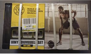 Golds gym dumbbell set 40lbs new in box for Sale in Beltsville, MD