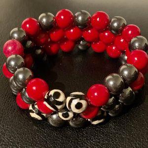 Handmade Red Jasper, African Stones & Hematite Beaded Bracelet for Sale in Bethesda, MD