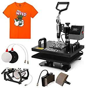5 in 1 Heat Press Machine Digital Transfer Sublimation T-Shirt Mug Hat 15mm12x10 for Sale in Fullerton, CA
