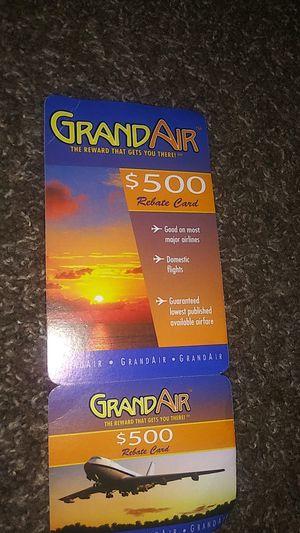This a Grand Air fair card worth 500 for Sale in Bossier City, LA