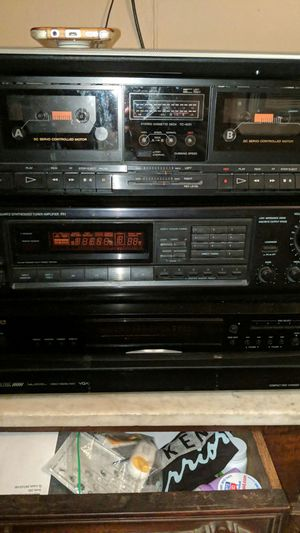 Onkyo stereo Onkyo 5 dics cd changer Sony tape deck have remote control for stereo /cd player for Sale in Bordentown, NJ