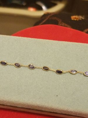14k gold bracelet with 4.60 ct of NATURAL SAPPHIRE great gift for your mom for Sale in Springfield, VA