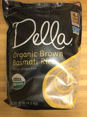 Della organic brown basmati rice 10lb for Sale in Hallandale Beach, FL
