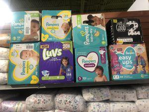 Baby Diapers HUGGIES, Pampers, Luvs, Pulls UPS for Sale in Doraville, GA