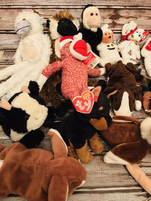 17 BEANIE BABIES AND 5 SMALL PLUSH - All 22 for one price for Sale in Longwood, FL