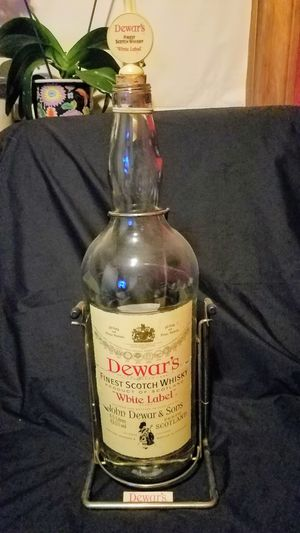 Dewars Scotch Whiskey White Label 4.5L Bottle and Cradle Display Pourer Vintage for Sale in Randolph, MA
