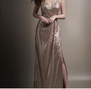 Gold sequin dress size 12 for Sale in St. Louis, MO