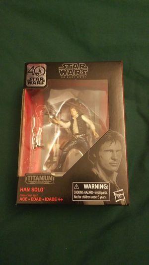 Star Wars 40 Year Anniversary Black Series Titanium Action Figure Han Solo #05 for Sale in Sandy, UT