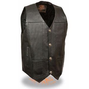 Men's Leather Motorcycle Vest w/o laces for Sale in Boca Raton, FL