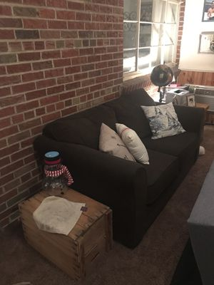 Sofa couch dark brown for Sale in St. Louis, MO