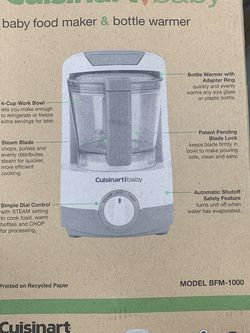Cuisinart Baby Food Processor And Battle Warmer for Sale in Irving,  TX