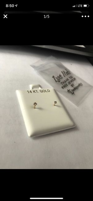 Real gold/diamond nose rings 2available for Sale in Tampa, FL