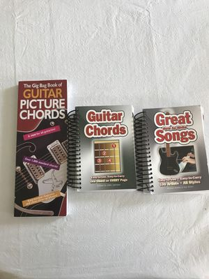 Guitar Books 3 total,: Picture cords, Guitar Cord's, and Great ( How to Write) Songs. for Sale in Silver Spring, MD
