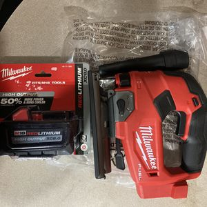 Milwaukee M18 Fuel Jig Saw And 8.0 Battery for Sale in Philadelphia, PA