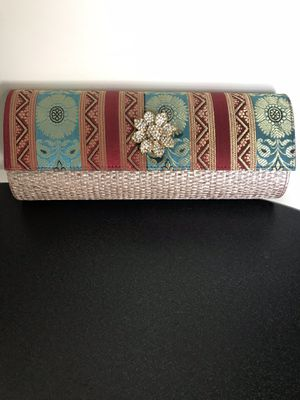 Beautiful ethnic hand-stitched clutch bag for Sale in Fairfax, VA