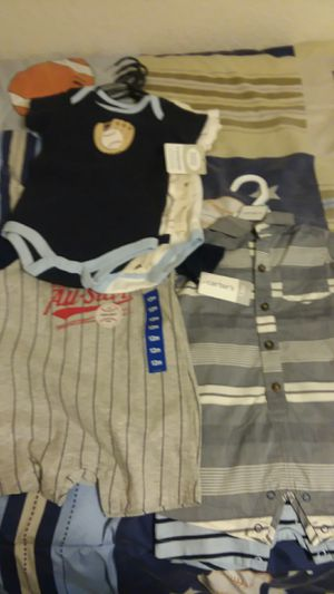 New Boys 6 to 12 months clothes and Stroller and Car seat for Sale in McFarland, CA