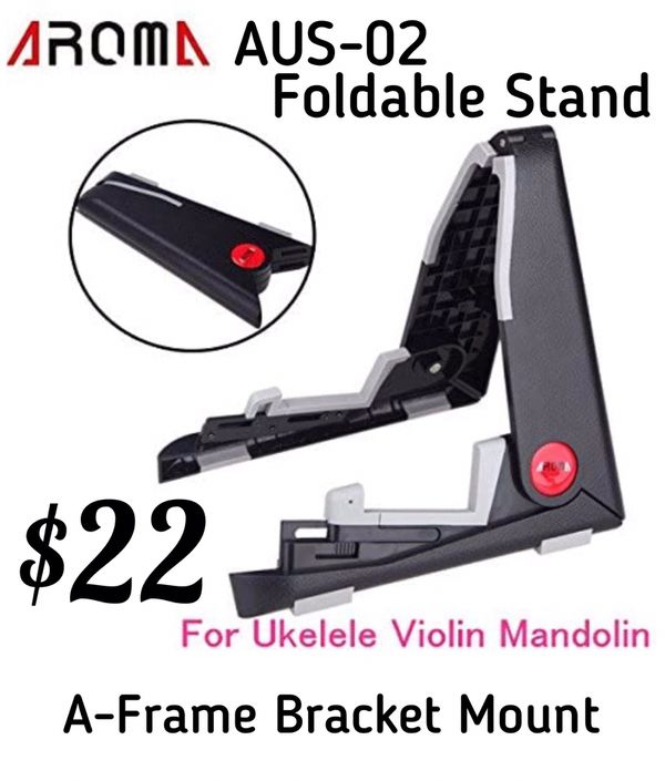 SOUNDHOUSE Aroma AUS-02 Foldable Stand, A-frame Bracket Mount for Ukelele, Violin, Mandolin