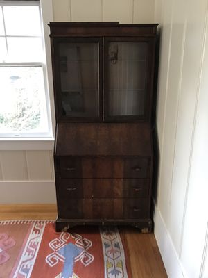 Solid wood tall writing desk / secretary for Sale in San Francisco, CA