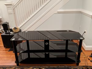 Innovex Black Glass and Metal TV Stand for Sale in Washington, DC