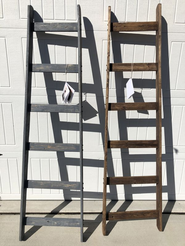 NEW 6' WOOD BLANKET/TOWEL LADDERS Choose Walnut, Gray, or Natural . These are Beautiful and fits your budget!! Can Pick up today or whenever you li