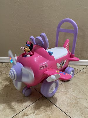 Mini mouse bush and ride on airplane for Sale in Glendale, AZ