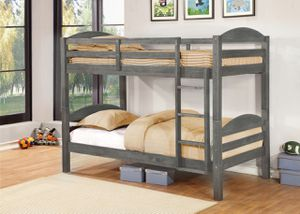 Grey Twin over Twin Bunk Bed for Sale in Downey, CA
