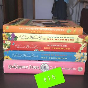 4 Cooking + 1 Cookie Book for Sale in Naugatuck, CT
