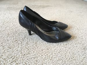BCBG Black Leather Heels (Size 7) for Sale in Silver Spring, MD