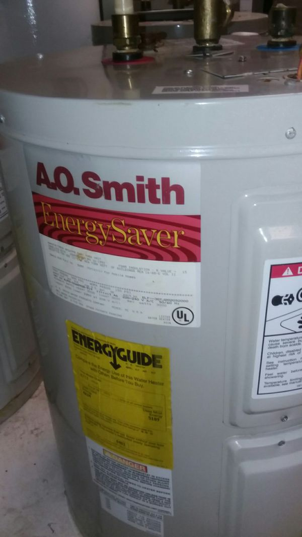 A.O.SMITH Energy Saver 30Gallon Water Heater Tank In Perfect Conditons