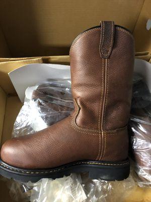 McRae steel toe cowboy work boots. Size 7W - full grain for Sale in Mesa, AZ