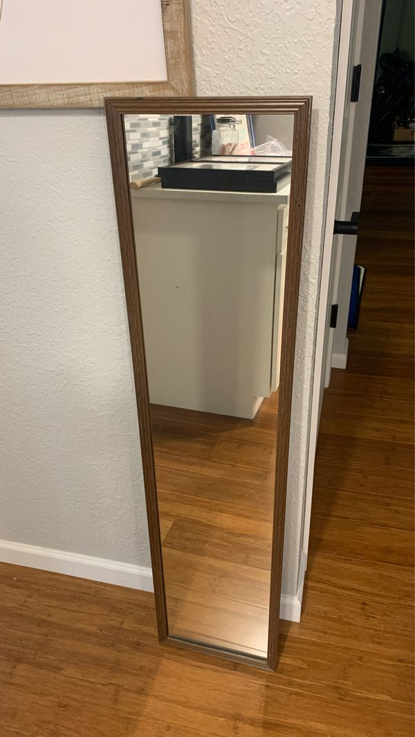 Full length wall or door mirror