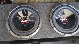 """2 12"""" subwoofer with box for Sale in Avon Park, FL"""