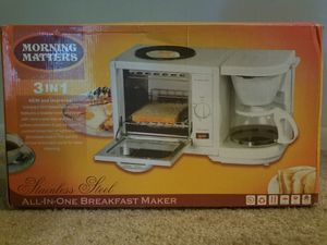 Breakfast Maker/ Toaster Oven/Coffee or Tea Pot for Sale in MD, US