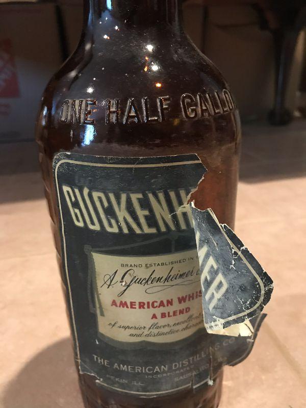 Guckenheimer Antique Bank Bottle
