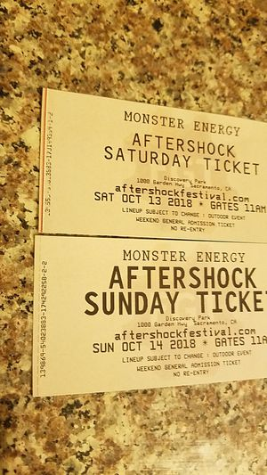 Aftershock tickets! for Sale in Sanger, CA