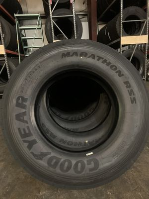 295/75/22.5 GOOD YEAR MARATHON RSS trailer tires for Sale in Tacoma, WA