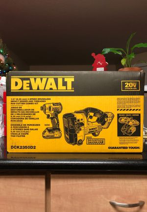 Dewalt Threaded Rod Cutter and 3-Speed Brushless Impact Driver Kit. (DCK2350D2) for Sale in OR, US