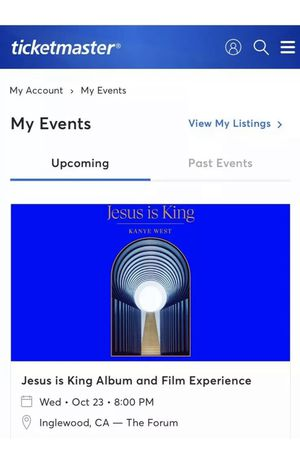 2 Tickets for Kanye West Jesus is King for Sale in Inglewood, CA