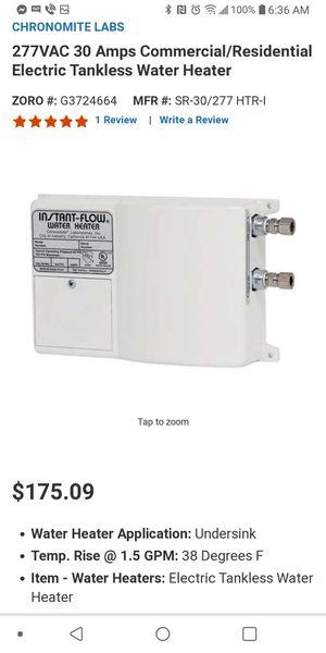 Instant flow water heater for Sale in San Antonio, TX