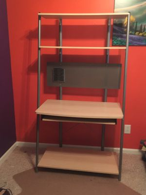 Standing Computer Desk & Matching 4-Tier Shelving Unit for Sale in Atlanta, GA