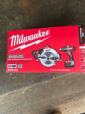 Milwaukee M18 brushless 2-tool combó Kit for Sale in Bolingbrook, IL