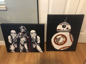 Star Wars painting / picture frame for Sale in Brandon, FL