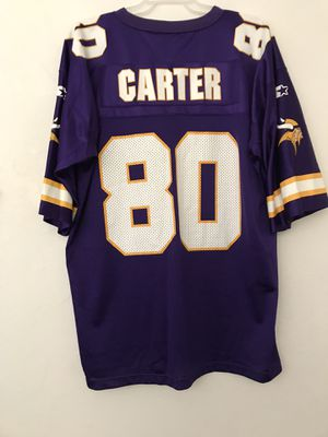 "Minnesota Vikings Starter Brand Jersey ""Cris Carter"" Size 54 XXL Stamp Letters Good Condition for Sale in Reedley, CA"