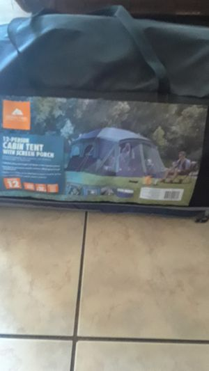 12 person camping tent with screen porch for Sale in San Jose, CA
