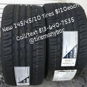 New 245/45/20 tires cheap $120each Tireman for Sale in Tampa, FL