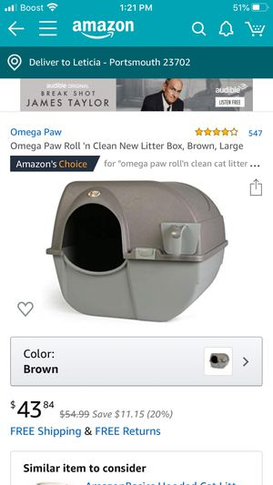 Roll n clean litter box for Sale in Chula Vista, CA