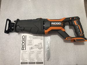 RIDGID 18-Volt OCTANE Lithium-Ion Cordless Brushless Reciprocating Saw (Tool-Only) with Reciprocating Saw Blade brand new unbox for Sale in Union City, CA