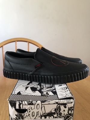 Brand new vans classic slip on shoes marvel black widow (men's size 7.5, women's 9) for Sale in La Mesa, CA