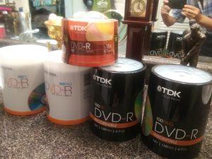 TDK + Memorex DVD-R 100 × 4, 50 × 1, 4.7GB 16x 120min Brand New Sealed Total 450 discs LOT for Sale in Melrose, TN